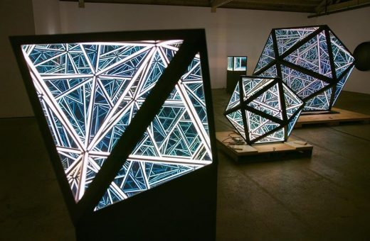 Portal Series, the endless icosahedrons by Anthony James