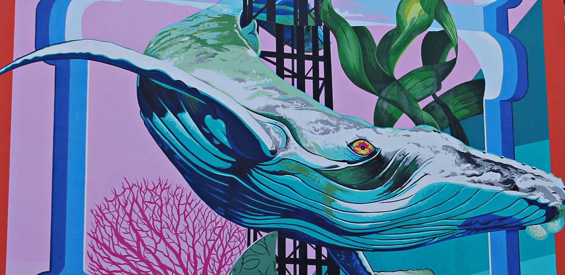 Anthropoceano, the anti-smog mural at Lambrate