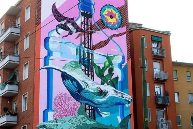 Anthropoceano, il murale anti-smog a Lambrate