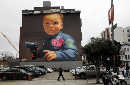 Baby With A Handgun, the new BiP's mural