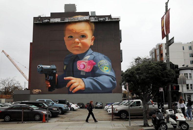 Baby With A Handgun, il nuovo murale di BiP