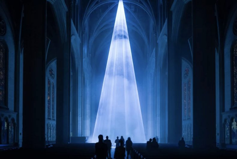 Grace Light, the immersive installation at the Grace Cathedral
