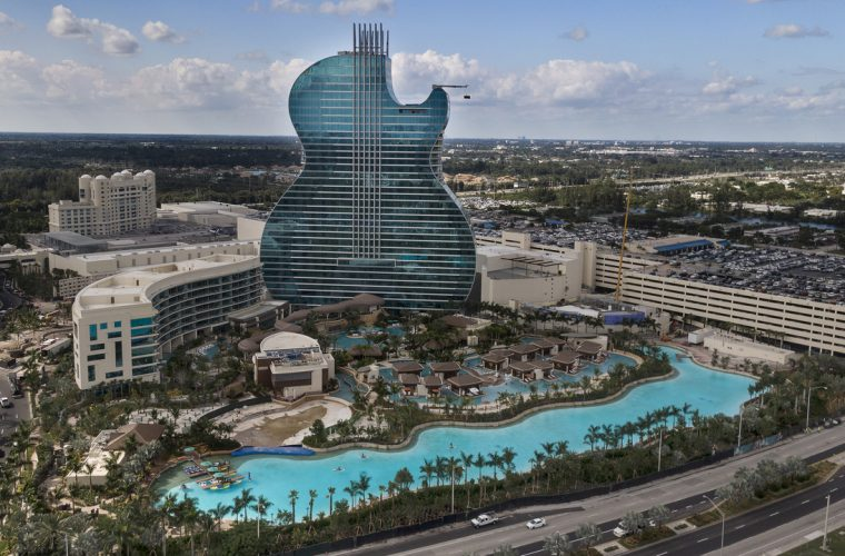 Seminole Hard Rock, the first hotel in the shape of a guitar