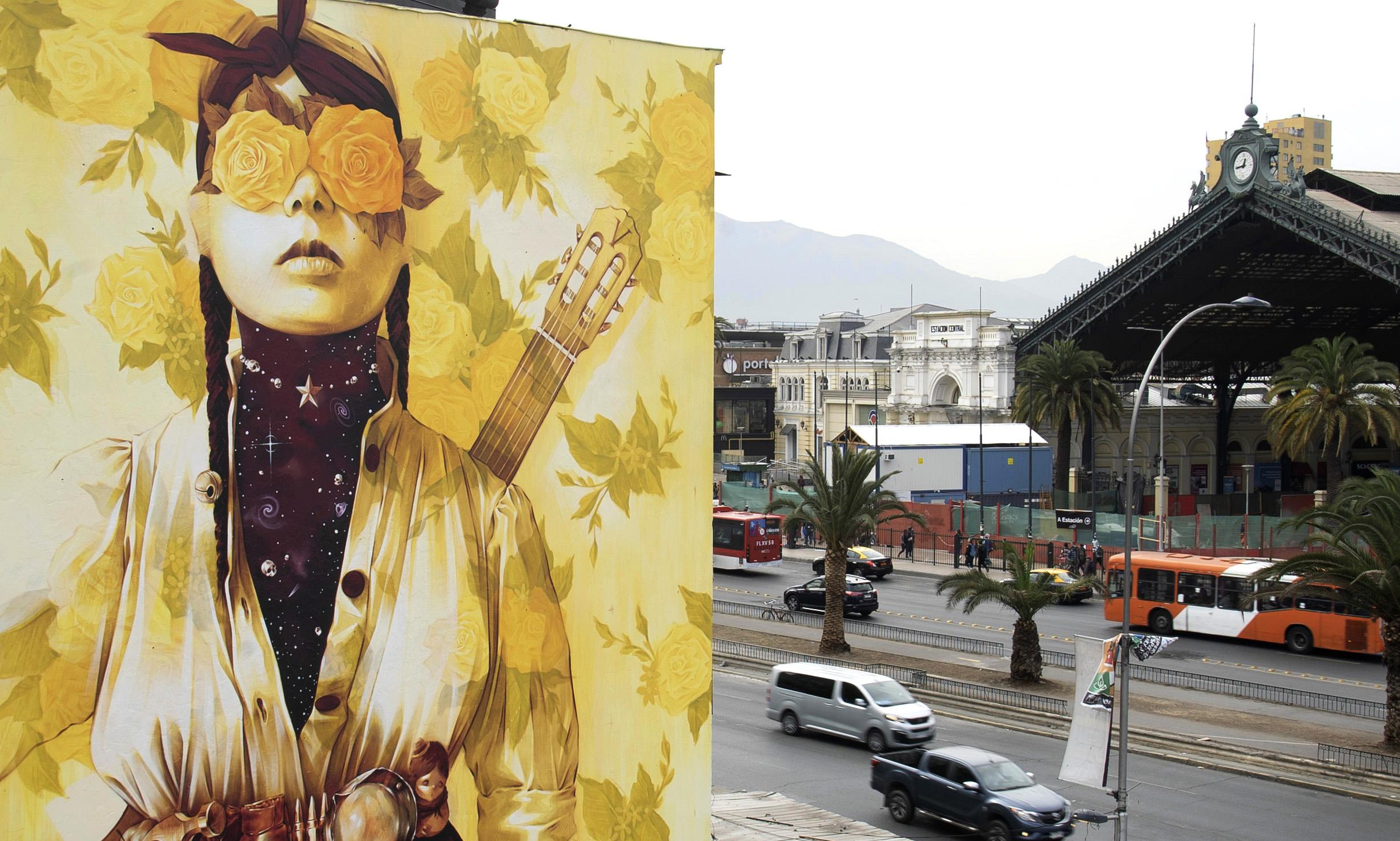 Primavera Insurrecta, the social mural of Inti Castro