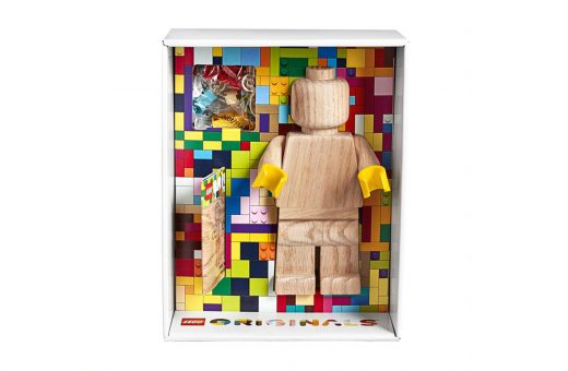 LEGO celebrates its history with a huge wooden minifig