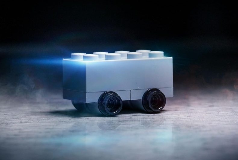 The new Tesla Cybertrack in LEGO format