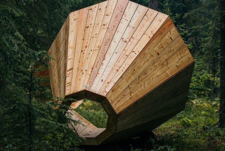 Estonia, i megafoni di legno amplificano la natura
