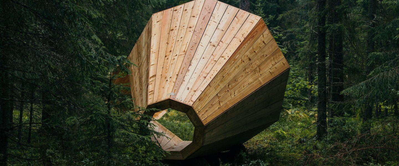 Estonia, wooden megaphones amplify nature