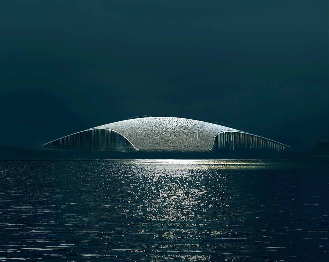 The Whale, Norwegian design blends with nature