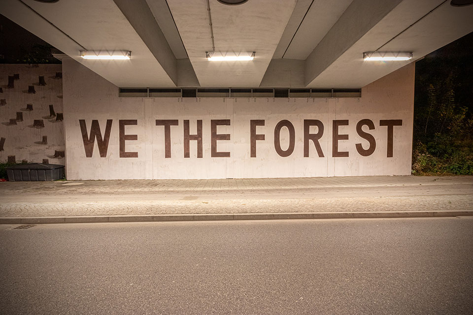 WE THE FOREST, the latest work by street artist Escif | Collater.al