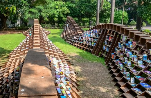 Bookworm Pavilion, the project by NUDES to promote reading