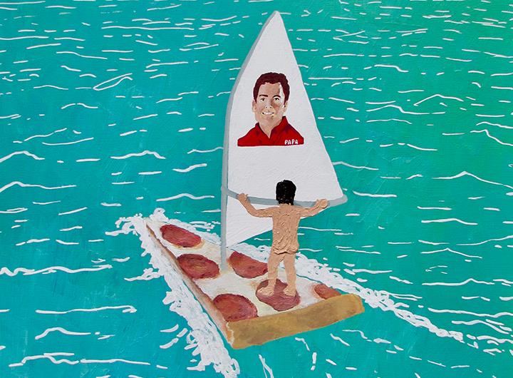 Alex Paulus, i dipinti umoristici sul fallimento
