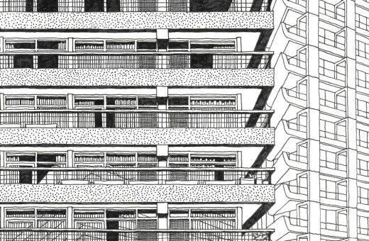 Le illustrazioni architettoniche di Andrew Cadey