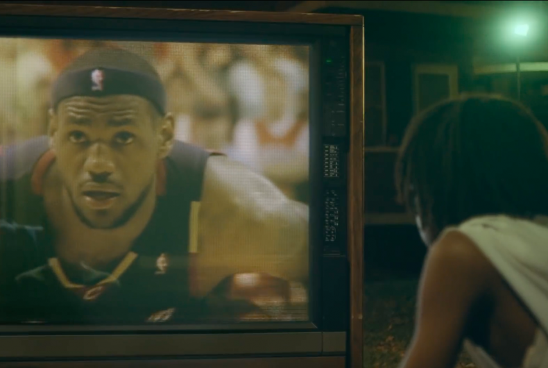 LeBron James in the latest and exciting Nike commercial