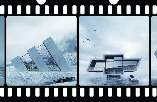 Gli edifici a forma di loghi ideati da Karina Wiciak