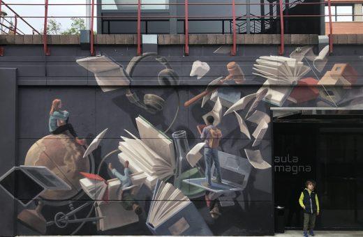 Cinta Vidal's murals defying gravity