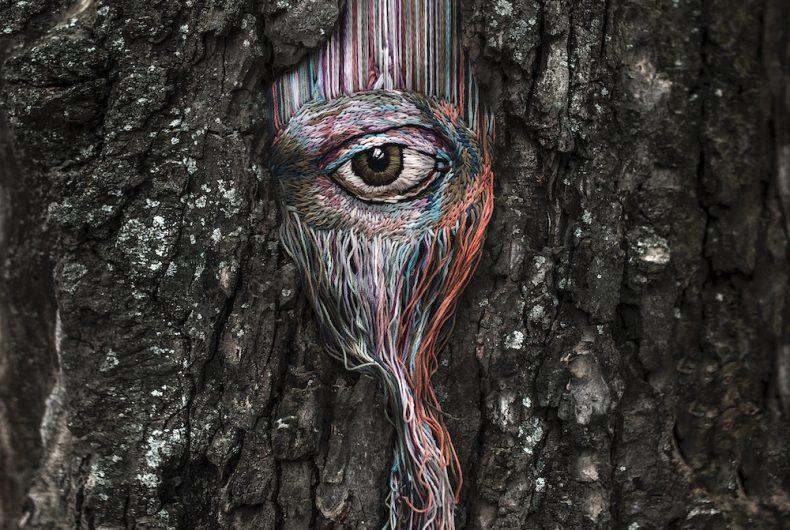 Diana Yevtukh, l'artista che ricama gli alberi