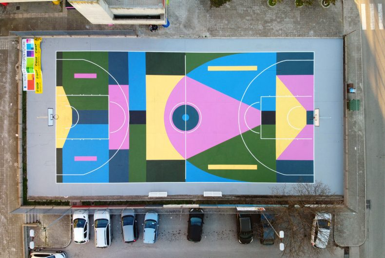 Let's Play Culture, Nico Skolp's mural on a basketball court