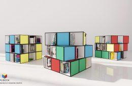 Rubook: la libreria ispirata al cubo di Rubik