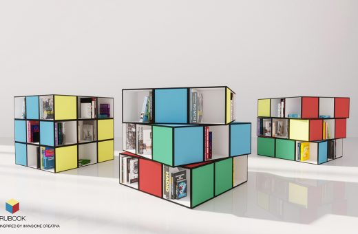 Rubook: the bookcase inspired by the Rubik's cube