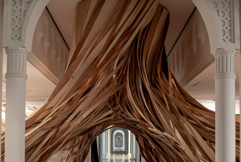Study in Pattern, the wooden installation by Wade Kavanaugh and Stephen B. Nguyen