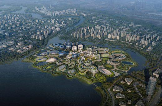 Il masterplan della Unicorn Island di Zaha Hadid Architects
