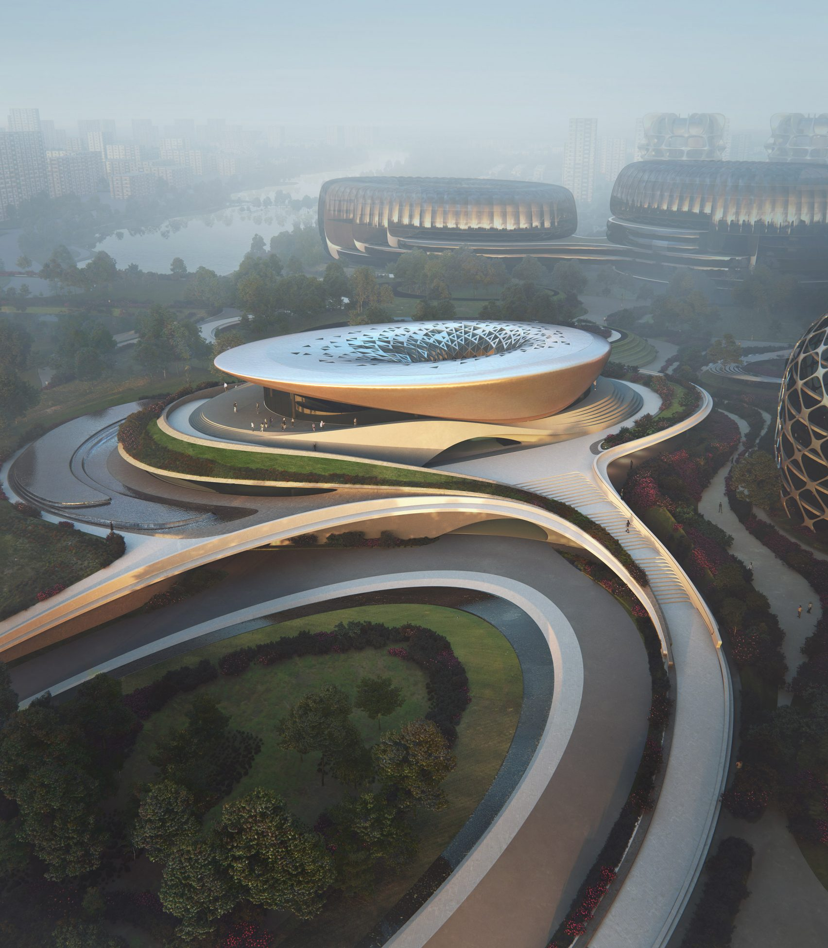 The Unicorn Island masterplan by Zaha Hadid Architects