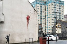 Il graffito di Banksy per San Valentino a Bristol