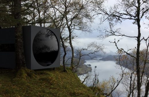 Birdbox, small shelters in the Norwegian fjords
