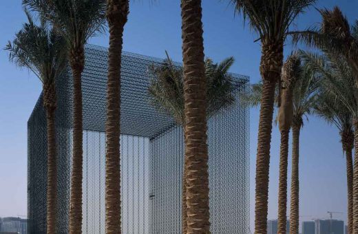 The huge carbon fibre door for Expo 2020 in Dubai