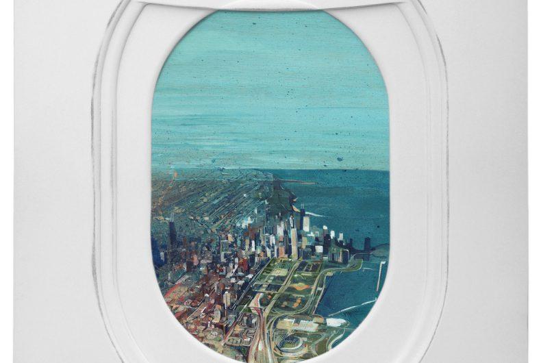 Windows, i finestrini degli aerei nei dipinti di Jim Darling