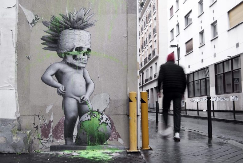 Urban artist Ludo strikes again