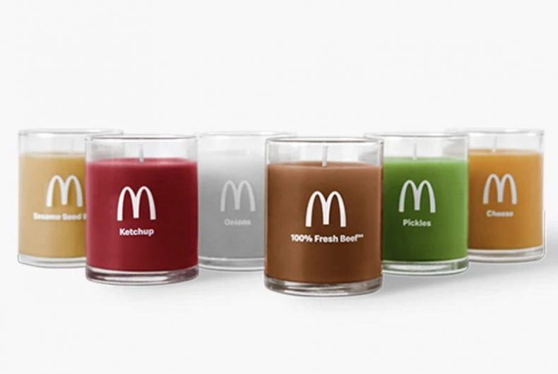 Here are the McDonald's burger scented candles.