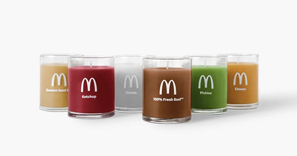 Here are the McDonald's burger scented candles | Collater.al