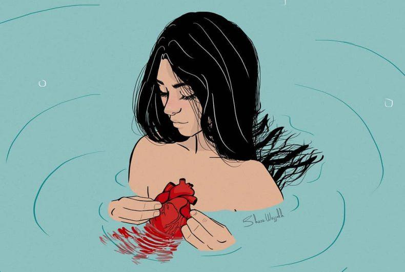 Shaza Wajjokh turns emotions into drawings