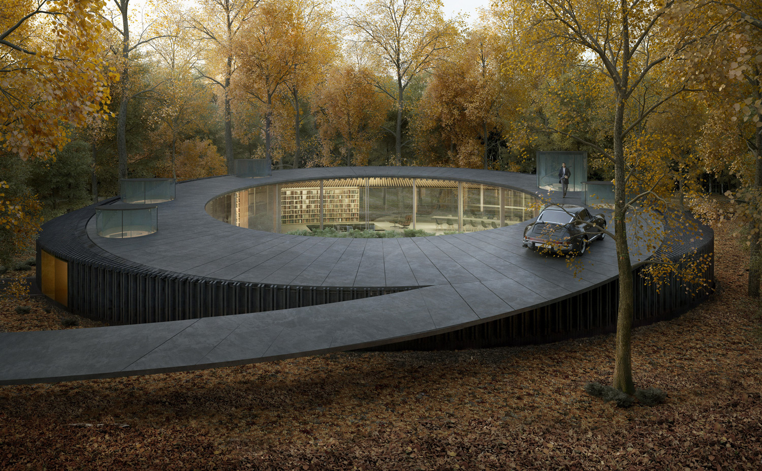 Woodhouse 2.0, the house that merges with the forest | Collater.al