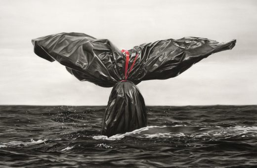 Murmure and garbage bags, symbol of the climate crisis