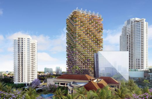 """The rainbow tree"", a green skyscraper in the Philippines"
