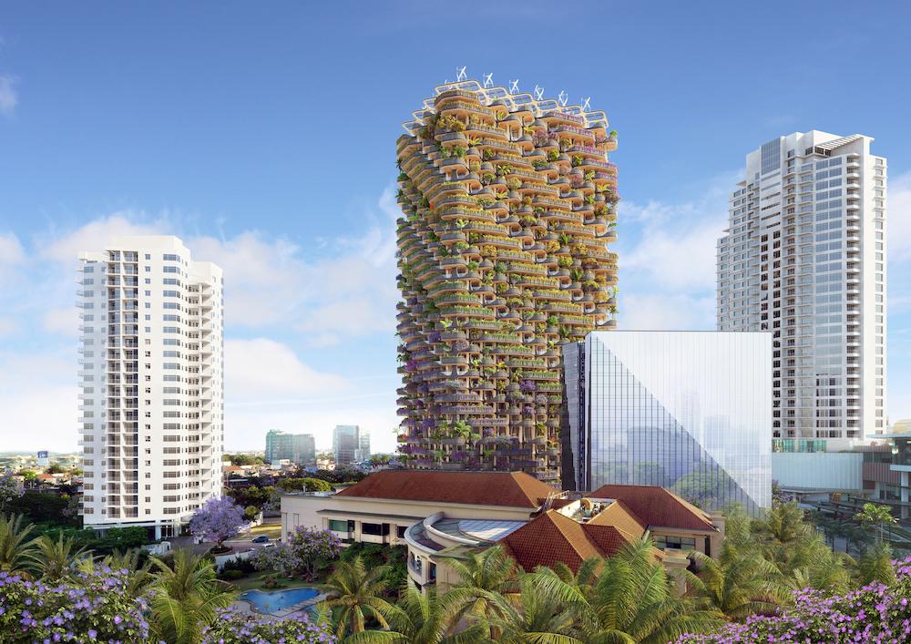 """The rainbow tree"", a green skyscraper in the Philippines | Collater.al"