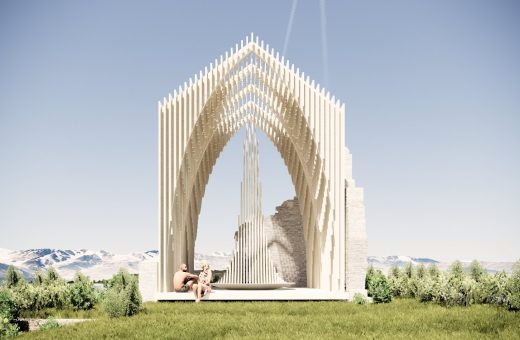 Salt Chapel, the pavilion that seems to be made of salt