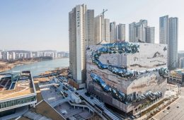 The new project by Oma studio in the shape of a stone