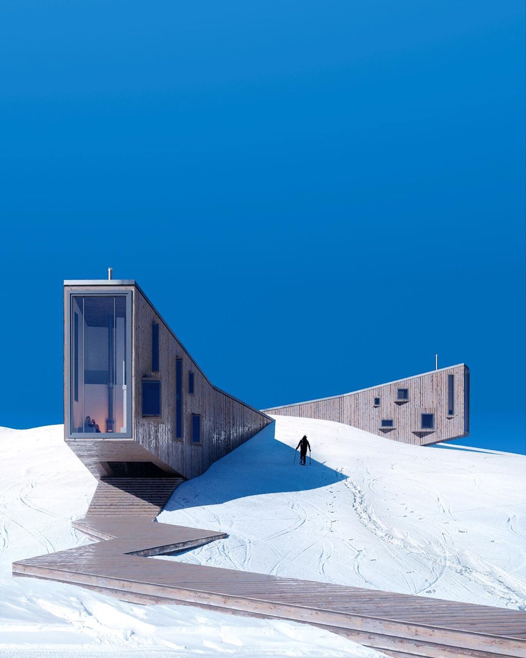 """""""Winter Hotel"""", nestled in the mountains 