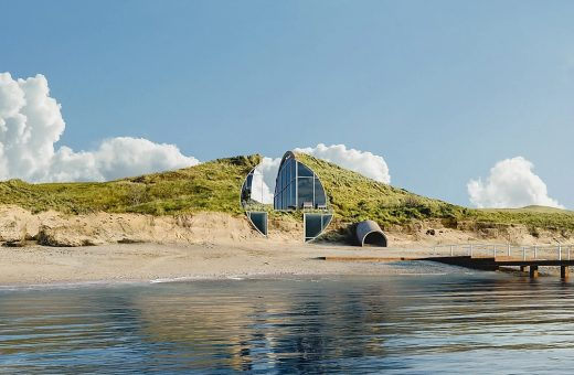 Dune House, the house hidden and visible only from the sea