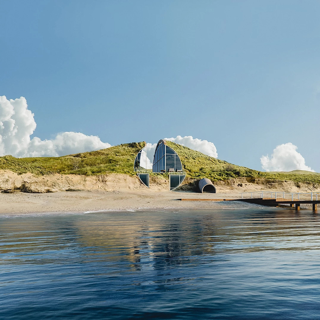 Dune House, the house hidden and visible only from the sea | Collater.al