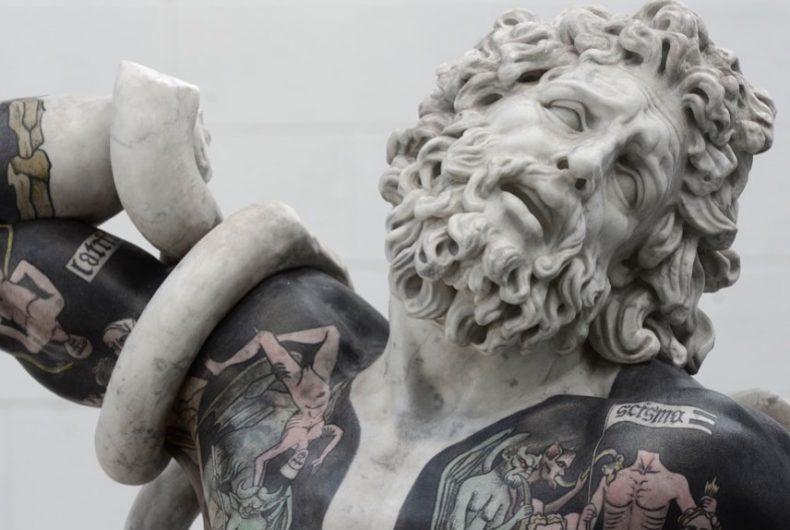 Tra sacro e profano, le sculture tatuate di Fabio Viale