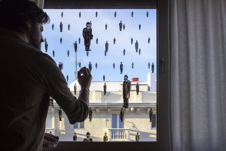 """It can't rain all the time,"" Pejac's window"