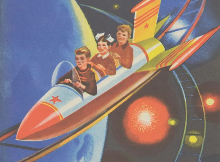 Le vecchie grafiche spaziali dell'Unione Sovietica