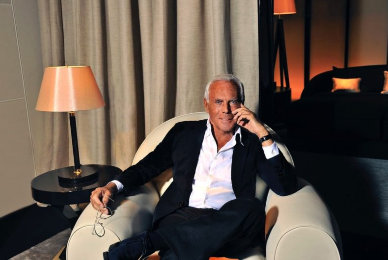 Giorgio Armani's letter to the fashion world