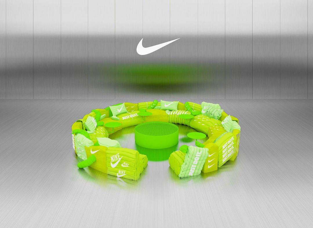 The Nike sofa created by studio Crosby | Collater.al
