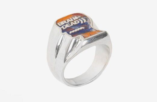 Gli anelli handmade in argento di Brain Dead